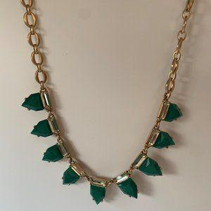 Stella & Dot green & gold necklace